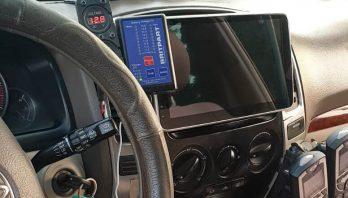 התקנת מסך אנדרואיד לרכב 10 אינץ לטויוטה לנד קרוזר 2008